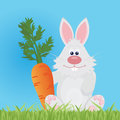 Bunny with carrot for you design Stock Image