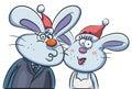 Bunny couple portrait Imagens de Stock Royalty Free
