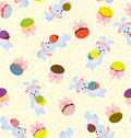 Bunny Day Pattern Royalty Free Stock Photo