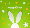 Bunny easter card paper funny Royalty Free Stock Image