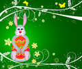 Bunny with egg - vector Royalty Free Stock Photos