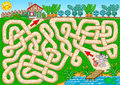 Maze game for children. Help bunny get to the carrot