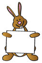 Bunny Holding Sign Royalty Free Stock Photography