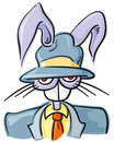 Bunny mobster Stock Image