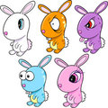 Bunny Rabbit Vector Set Stock Images