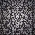 Bunny skull wallpaper Stock Photography