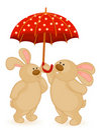 Bunny with umbrella Royalty Free Stock Photo