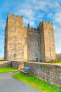 Bunratty castle in ireland feb on february is a large tower house county clare and lies the centre of Royalty Free Stock Photo