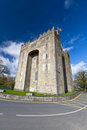 Bunratty castle in sunny day Royalty Free Stock Photography