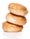 Buns for burger over white background Stock Photography