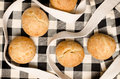Buns homemade on beautiful fabric Stock Image