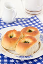 Buns homemade with garlic and dill Stock Images