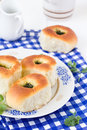 Buns homemade with garlic and dill Royalty Free Stock Photography