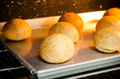 Buns homemade in the oven Royalty Free Stock Photo