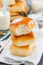 Buns with milk Royalty Free Stock Photo