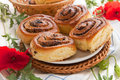 Buns with poppy seeds Royalty Free Stock Photos