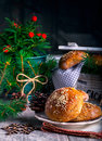Buns with sesame on plate Royalty Free Stock Photo