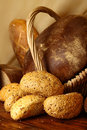 Buns with sesame seeds and bread Royalty Free Stock Image