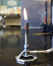 Bunsen burner in a chemistyr laboratory Royalty Free Stock Photography