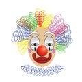 Bunte illustration mit clown für ihren entwurf Lizenzfreie Stockfotografie