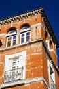 Bunte warme Architektur in Sevilla Lizenzfreie Stockfotografie