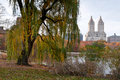 Bunter herbst im central park Stockfotografie