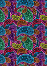 Buntes Paisley Background_eps Lizenzfreies Stockfoto