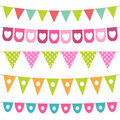 Bunting collection Royalty Free Stock Images