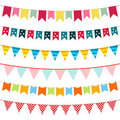 Bunting collection Royalty Free Stock Image