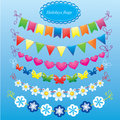 Bunting and garland set Royalty Free Stock Photos