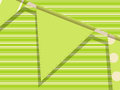 Bunting on a green background Royalty Free Stock Photo