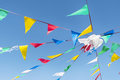 Bunting party Flags On A blue sky Royalty Free Stock Photo