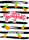 Buon Happy italian language Ferragosto Italy holiday. Vertical Sale banner. Royalty Free Stock Photo