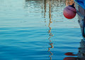 Buoy hanging off a boat Royalty Free Stock Photo