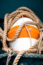 Buoy and rope Royalty Free Stock Photos