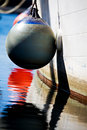 Buoy on side of boat Royalty Free Stock Photo