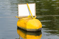 Buoy, yellow, black Royalty Free Stock Photo