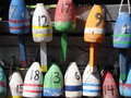 Buoys of Maine Stock Photo