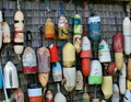 Buoys on a Shed Royalty Free Stock Images