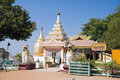 Bupaya pagoda on the shore of the Irrawaddy river Stock Photography