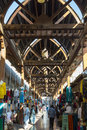 Bur dubai souk arabian market old textile uae united arab emirates Stock Image