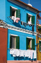 Burano brightly-colored houses Royalty Free Stock Images