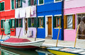 Burano channel and colorful houses venice island landmark of veneto region italy Stock Photo