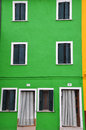 Burano colorful houses on the island of Royalty Free Stock Photo