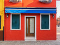 Burano colourful houses in venice italy Royalty Free Stock Photo