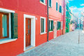 Burano facades Stock Photography