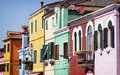 Burano famous old town of in italy near venice Royalty Free Stock Photos