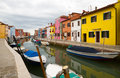 Burano, famous for it`s colourful houses. Stock Photo