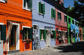 Burano Houses Stock Image