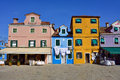 Burano island italy sept square baldassare galuppi byname il buranello on the famous venice venice and the venetian lagoon Royalty Free Stock Photography